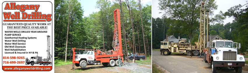 Well Drilling, Well Cleanouts & Well Pump Service from Olean NY to Coudersport PA